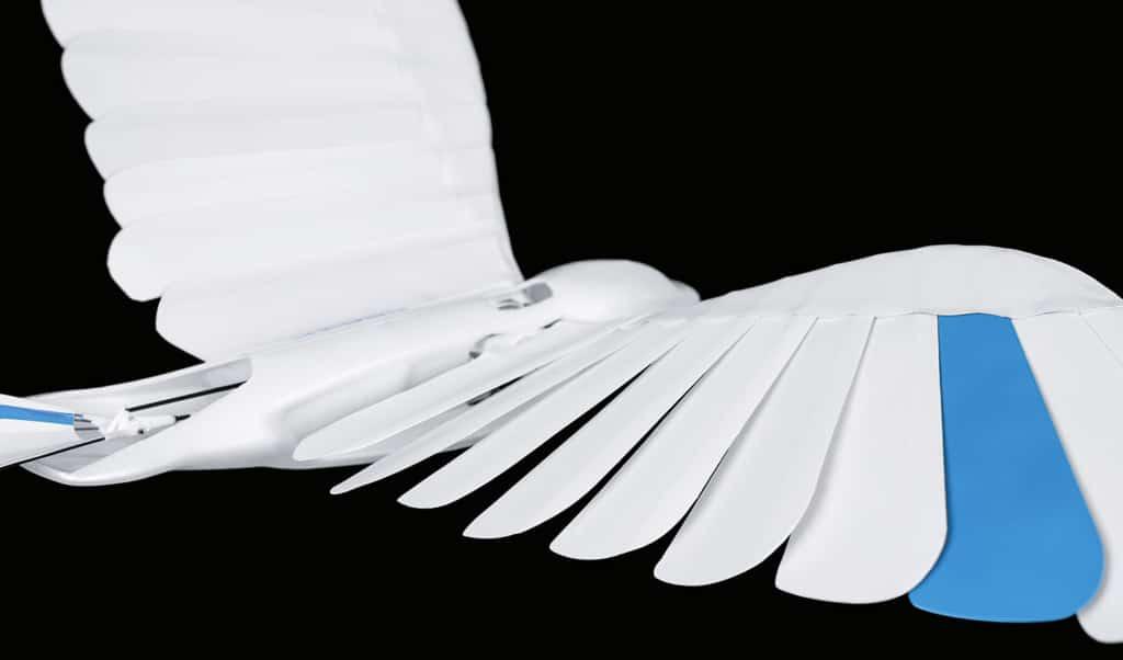 片片「羽毛」疊成機翼 仿生雨燕飛行性能比一般撲翼無人機強