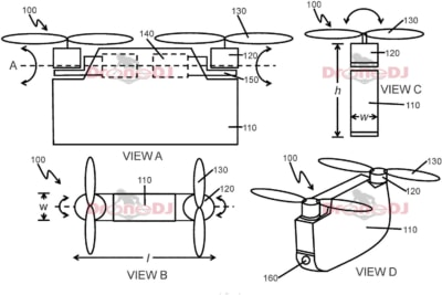 DJI 研發兩軸無人機? 兩款雲台相機專利同時曝光