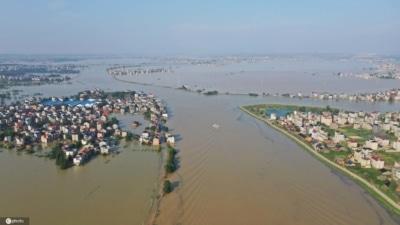航拍看中國水災:江西多個縣市成澤國 數千房屋倒塌損毀