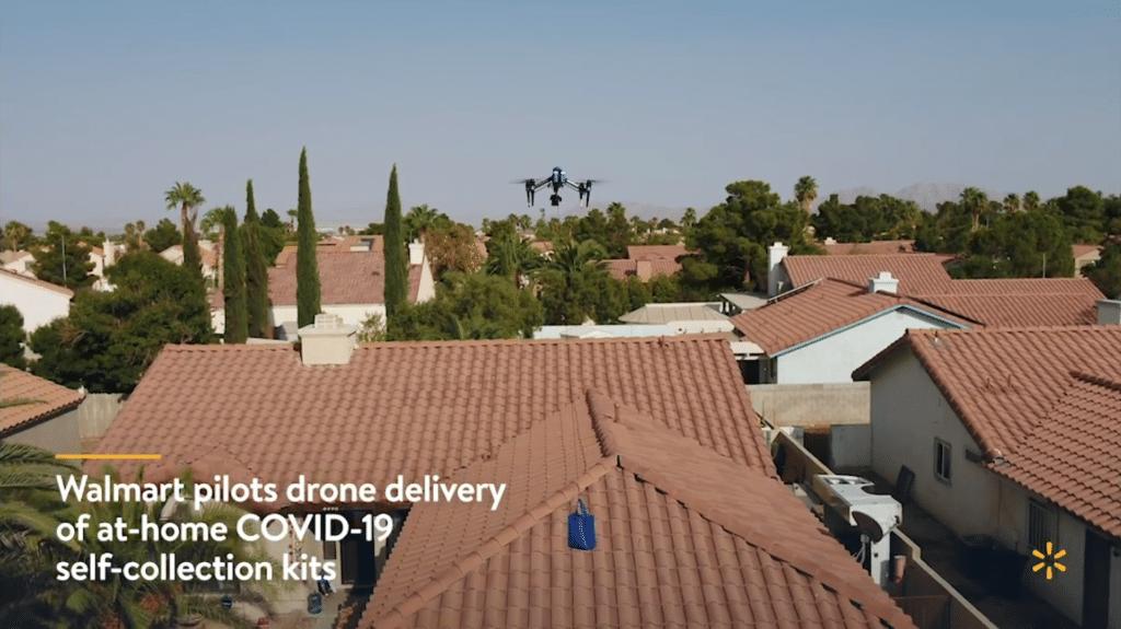 沃爾瑪試用無人機配送 COVID-19 試劑 提升非接觸式測試之能力