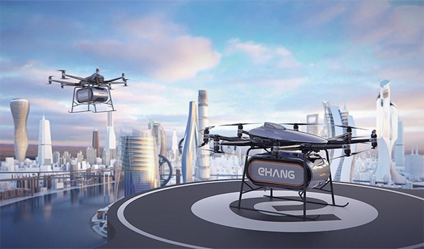 億航發佈中短途物流無人機 最大可載荷 200 公斤